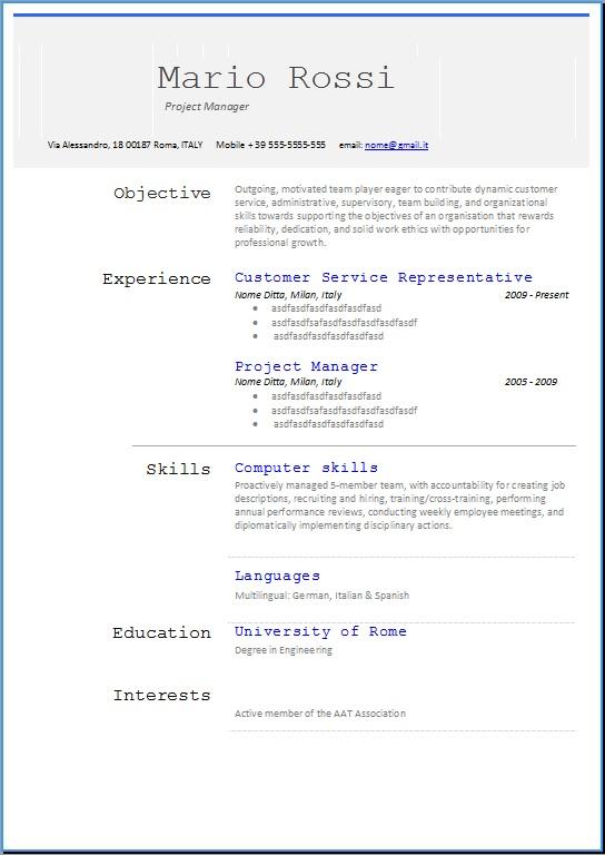 Esempio Cover Letter Ingegnere - Cover Letter Templates